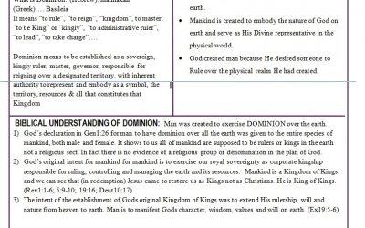 Understanding the Dominion Mandate of Man